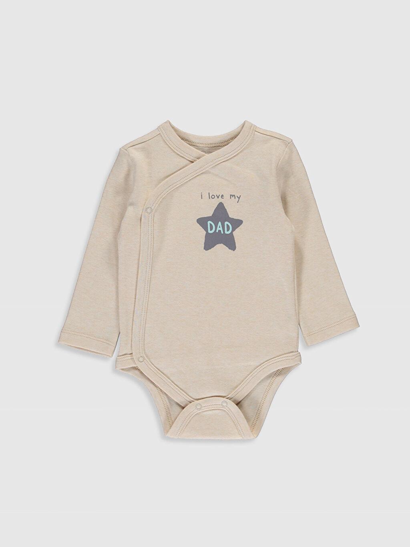 Erkek Bebek Organik Yenidoğan Desenli Çıtçıtlı Body 2'li