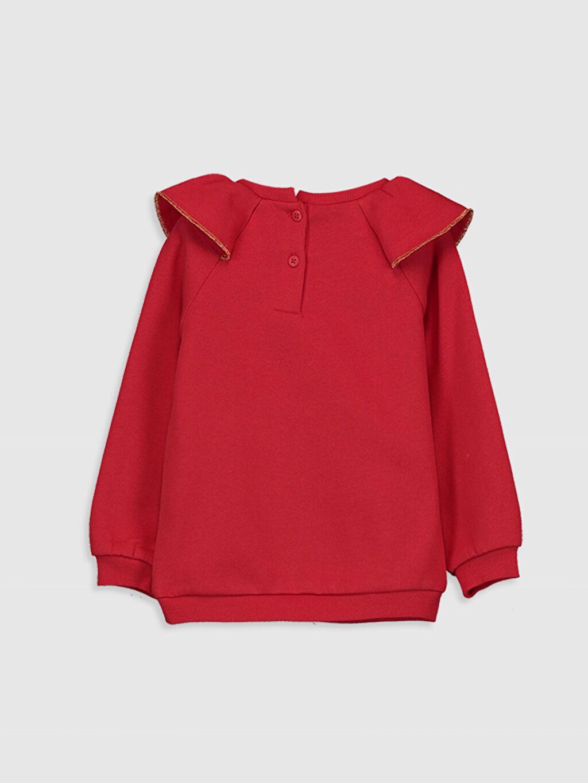 %90 Pamuk %10 Polyester  Kız Bebek Desenli Sweatshirt