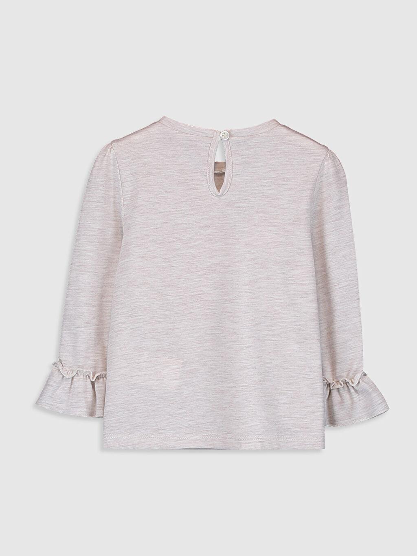 %50 Pamuk %50 Polyester Standart Baskılı Uzun Kol Tişört Bisiklet Yaka Kız Bebek Desenli Tişört