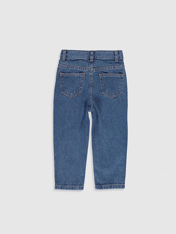 %100 Pamuk Bol Kız Bebek Jean Pantolon