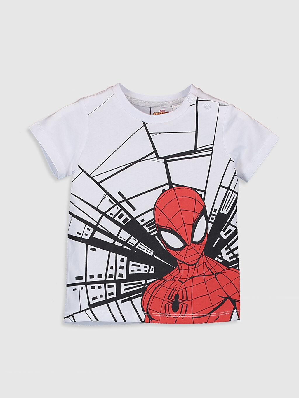 Beyaz Erkek Bebek Spiderman Baskılı Tişört 9WQ319Z1 LC Waikiki