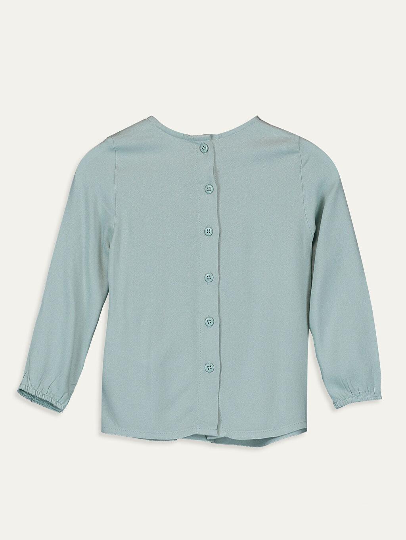 %100 Viskoz Standart Desenli Uzun Kol Bluz Kız Bebek Desenli Bluz
