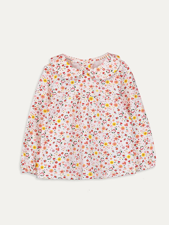 Pembe Kız Bebek Desenli Pamuklu Tişört 9WQ411Z1 LC Waikiki