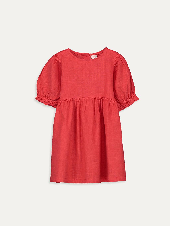 Kırmızı Kız Bebek Poplin Elbise 9WQ434Z1 LC Waikiki