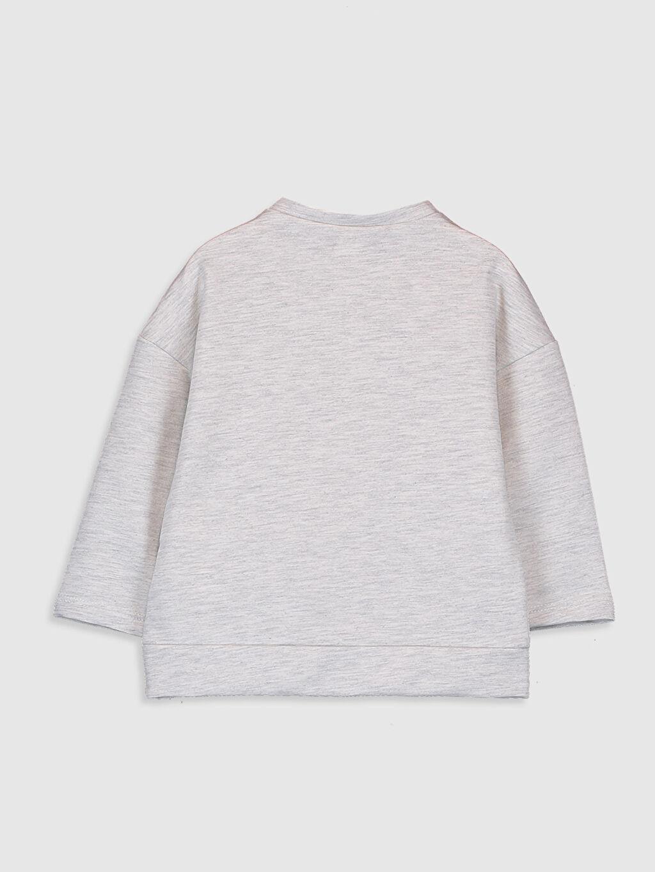 %51 Pamuk %49 Polyester  Erkek Bebek Baskılı Sweatshirt