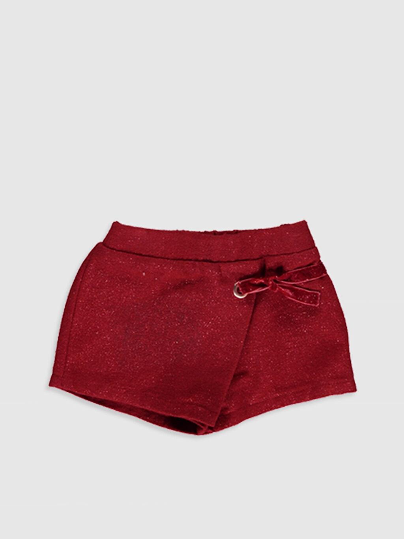 %2 Poliester %95 Akrilik %3 Metalik iplik Normal Bel Şort Kız Bebek Şort ve Külotlu Çorap