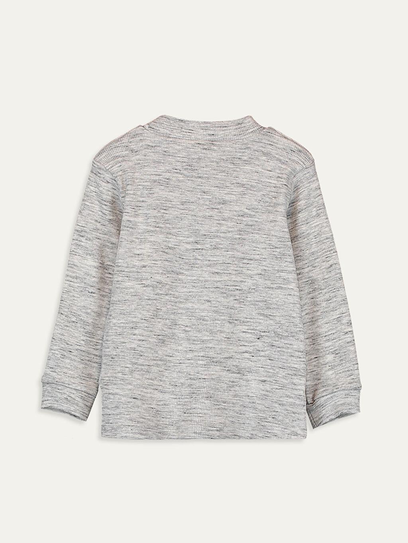 %93 Pamuk %5 Polyester %2 Elastan Normal Çizgili Uzun Kol Tişört Diğer Erkek Bebek Pamuklu Basic Tişört
