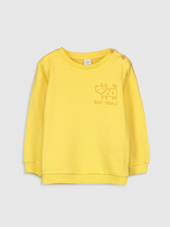 Sarı Erkek Bebek Baskılı Sweatshirt 9WR326Z1 LC Waikiki