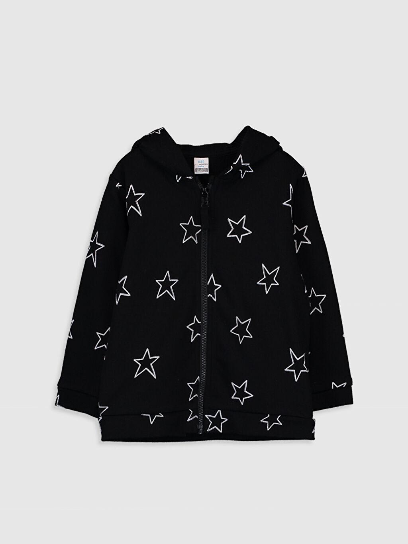 Siyah Erkek Bebek Fermuarlı Kapüşonlu Sweatshirt 9WR339Z1 LC Waikiki