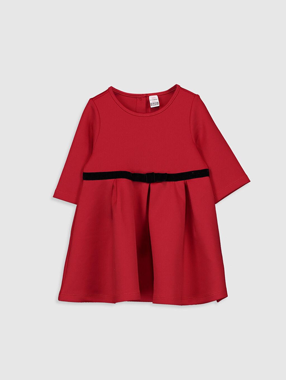 Kırmızı Kız Bebek Basic Elbise 9WR352Z1 LC Waikiki