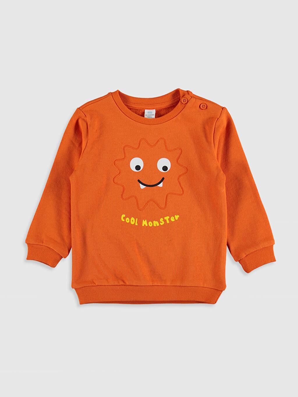 Turuncu Erkek Bebek Desenli Sweatshirt 9WR728Z1 LC Waikiki