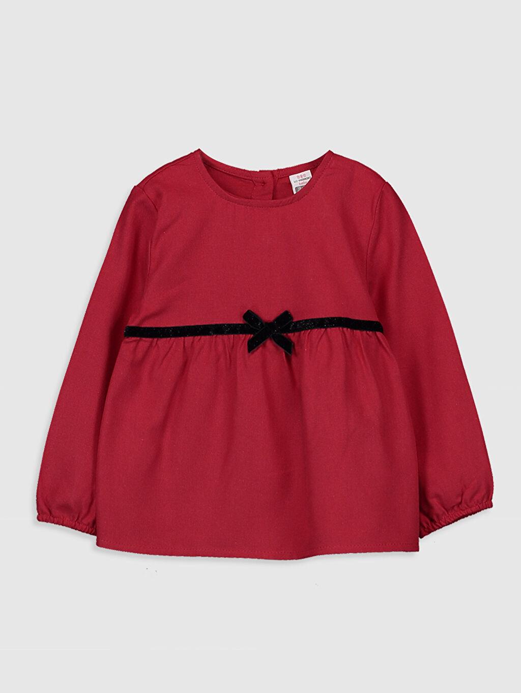 Kırmızı Kız Bebek Flanel Bluz 9WR837Z1 LC Waikiki