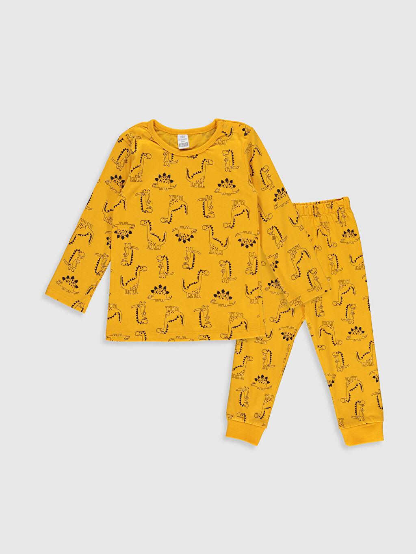 Sarı Erkek Bebek Desenli Pijama Takımı 9WS412Z1 LC Waikiki