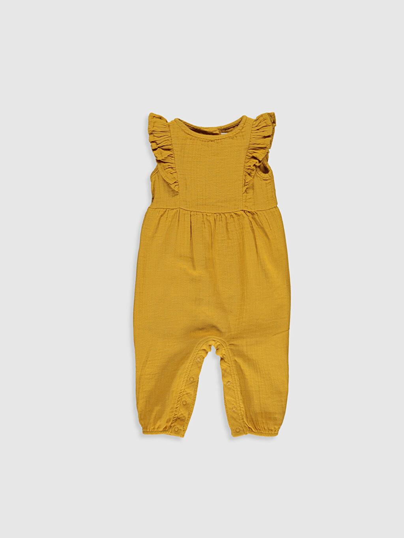 Sarı Kız Bebek Poplin Tulum 9WS594Z1 LC Waikiki