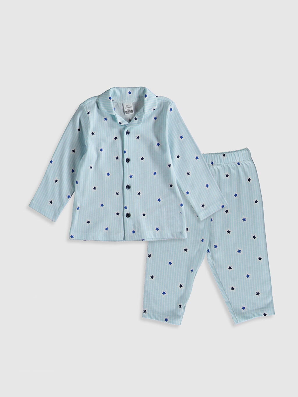 Beyaz Erkek Bebek Desenli Pijama Takımı 9WS789Z1 LC Waikiki