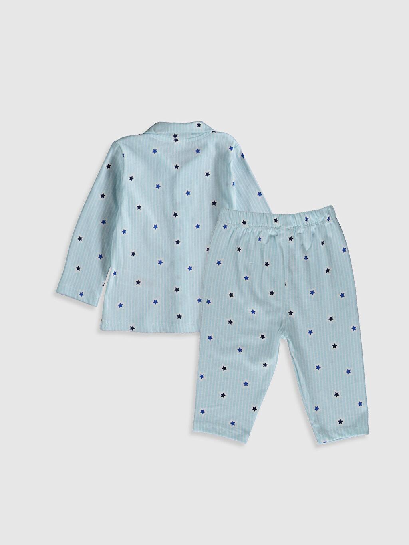 %100 Pamuk %100 Pamuk Standart Pijamalar Erkek Bebek Desenli Pijama Takımı