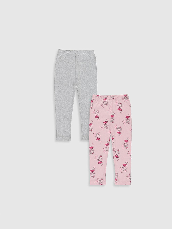 Pembe Kız Bebek Pijama Alt 2'li 9WS793Z1 LC Waikiki