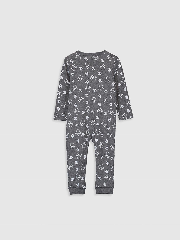 %59 Pamuk %41 Polyester Standart Tulum Erkek Bebek Desenli Tulum