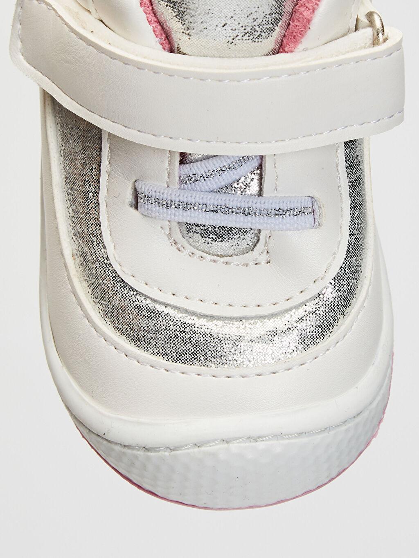 Beyaz Anatomik Tabanlı İlk Adım Ayakkabısı