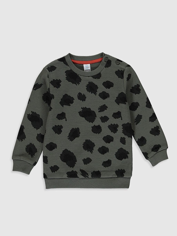 Haki Erkek Bebek Baskılı Kalın Sweatshirt 9WT212Z1 LC Waikiki