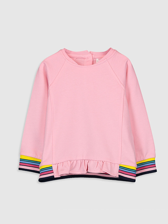 Pembe Kız Bebek Sweatshirt 9WT436Z1 LC Waikiki