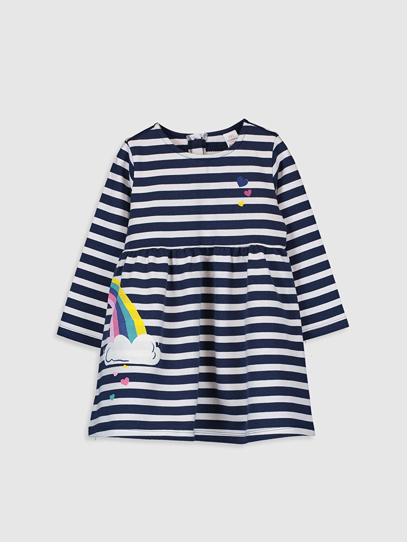 Mavi Kız Bebek Çizgili Elbise 9WT456Z1 LC Waikiki