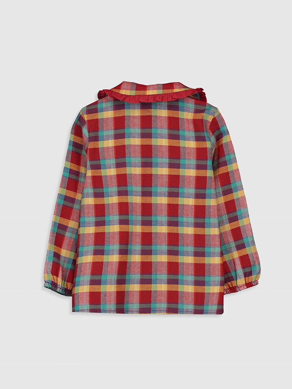 %100 Pamuk  Kız Bebek Ekose Flanel Gömlek