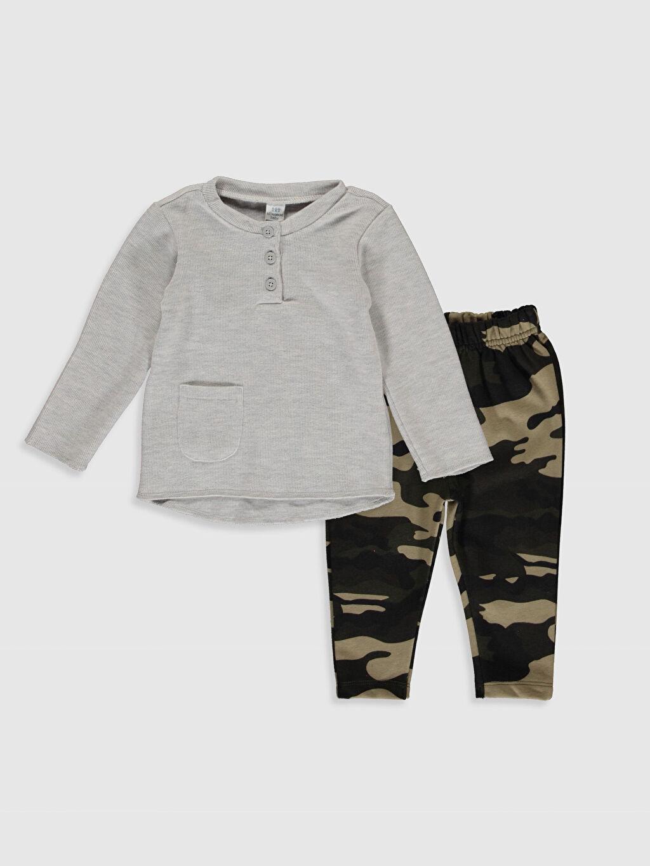 Gri Erkek Bebek Tişört ve Pantolon 9WT666Z1 LC Waikiki