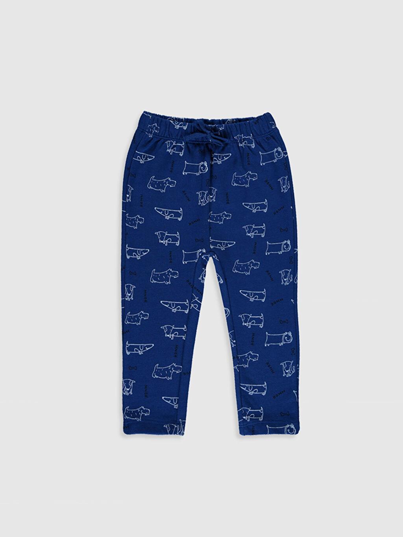 Erkek Bebek Baskılı Sweatshirt ve Pantolon