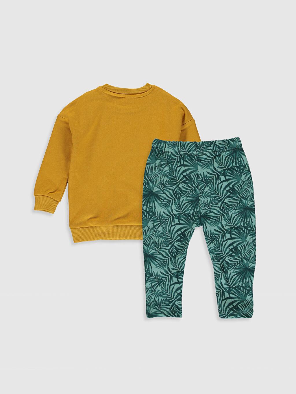 %83 Pamuk %17 Polyester %83 Pamuk %17 Polyester  Erkek Bebek Baskılı Sweatshirt ve Pantolon