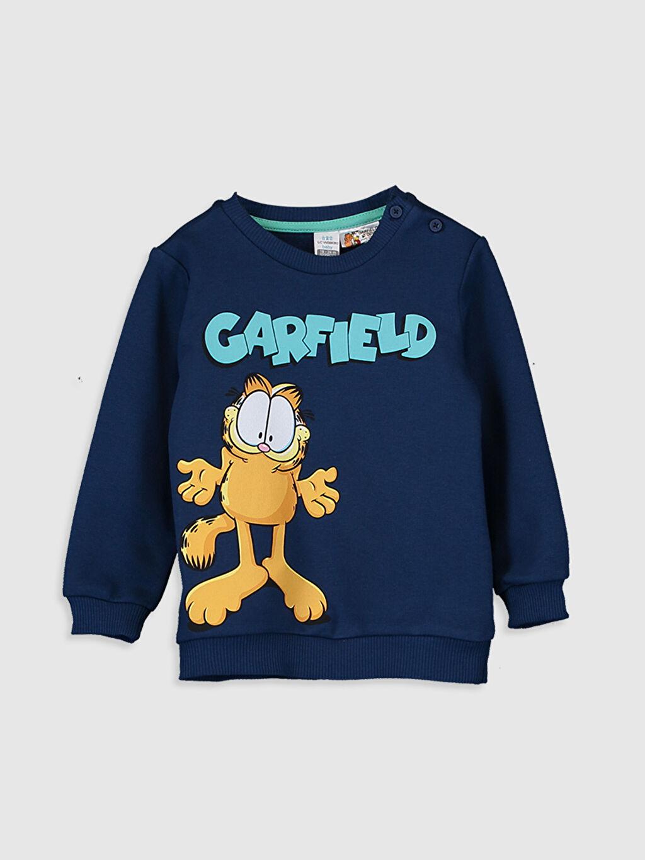Lacivert Erkek Bebek Garfield Baskılı Sweatshirt 9WT817Z1 LC Waikiki