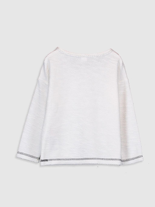 %54 Pamuk %46 Polyester Normal Uzun Kol Tişört Bisiklet Yaka Erkek Bebek İşlemeli Tişört