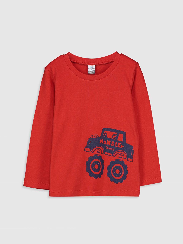 Kırmızı Erkek Bebek Baskılı Pamuklu Tişört 9WT919Z1 LC Waikiki