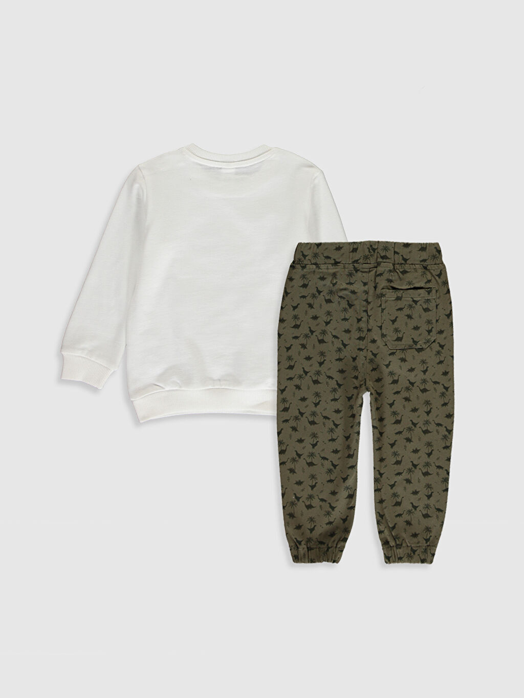 %86 Pamuk %14 Polyester %98 Pamuk %2 Elastan  Erkek Bebek Sweatshirt ve Pantolon