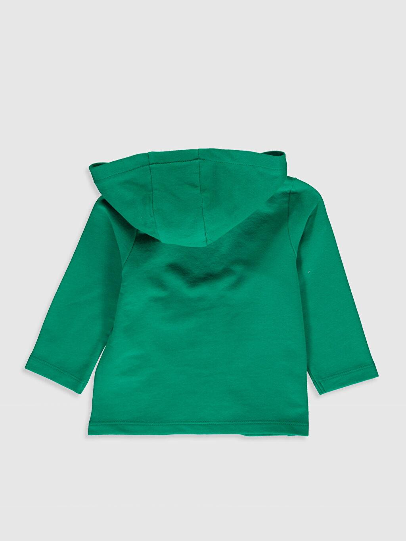 %80 Pamuk %20 Polyester  Kız Bebek Fermuarlı Sweatshirt