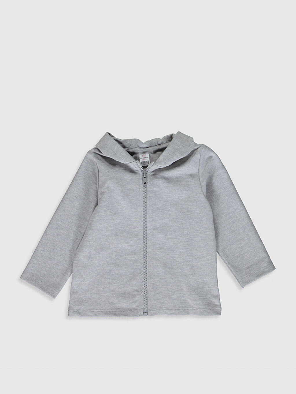 Gri Kız Bebek Fermuarlı Sweatshirt 9WU156Z1 LC Waikiki