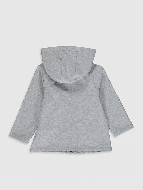 %48 Pamuk %48 Polyester %4 Elastan  Kız Bebek Fermuarlı Sweatshirt