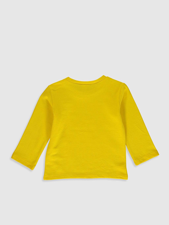 %67 Pamuk %33 Polyester Baskılı Uzun Kol Tişört Bisiklet Yaka Erkek Bebek Baskılı Tişört