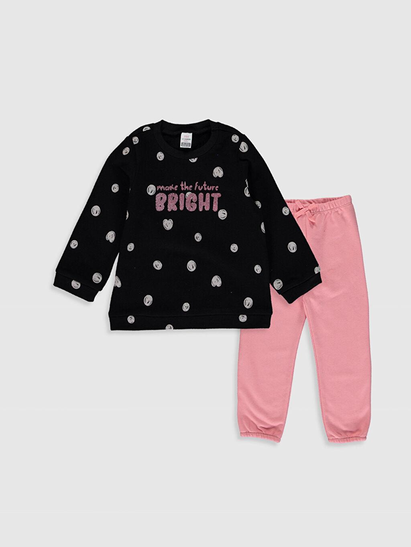 Siyah Sweatshirt ve Pantolon 9WU394Z1 LC Waikiki