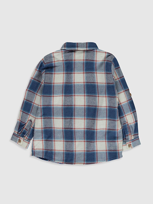 %100 Pamuk Standart Uzun Kol Ekoseli Erkek Bebek Ekose Gömlek