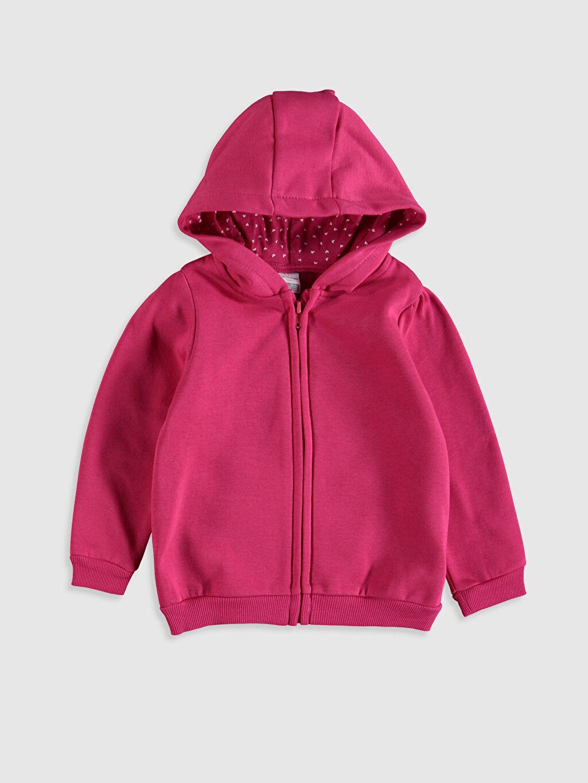 Fuşya Kız Bebek Kapüşonlu Fermuarlı Sweatshirt 9WU791Z1 LC Waikiki