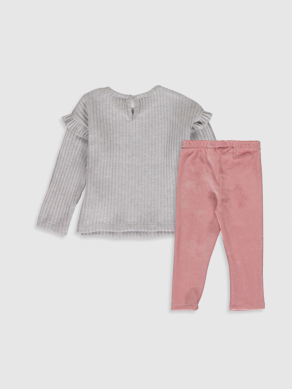 %47 Pamuk %50 Polyester %3 Elastan %93 Polyester %7 Elastan  Kız Bebek Tişört ve Tayt