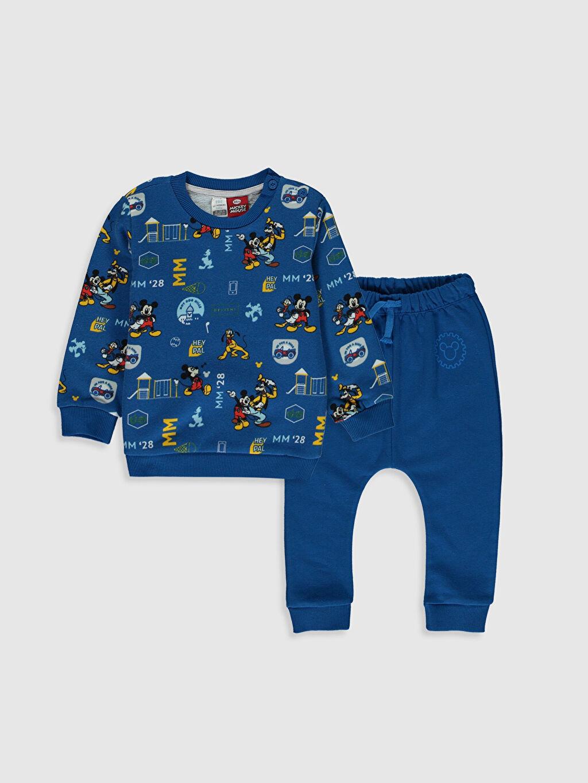 Sarı Erkek Bebek Disney Baskılı Sweatshirt ve Pantolon 9WV717Z1 LC Waikiki