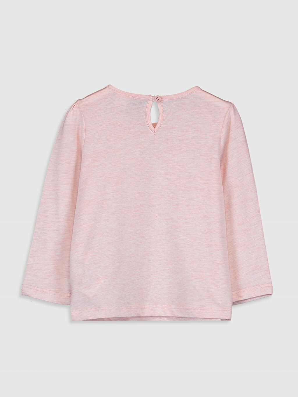 %60 Pamuk %40 Polyester Baskılı Standart Uzun Kol Tişört Bisiklet Yaka Kız Bebek Baskılı Tişört