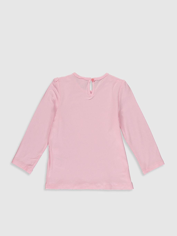 %97 Viskoz %3 Elastan Baskılı Standart Uzun Kol Tişört Bisiklet Yaka Kız Bebek Baskılı Tişört