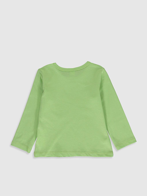 %100 Pamuk Baskılı Uzun Kol Tişört Bisiklet Yaka Erkek Bebek Yazı Baskılı Pamuklu Tişört