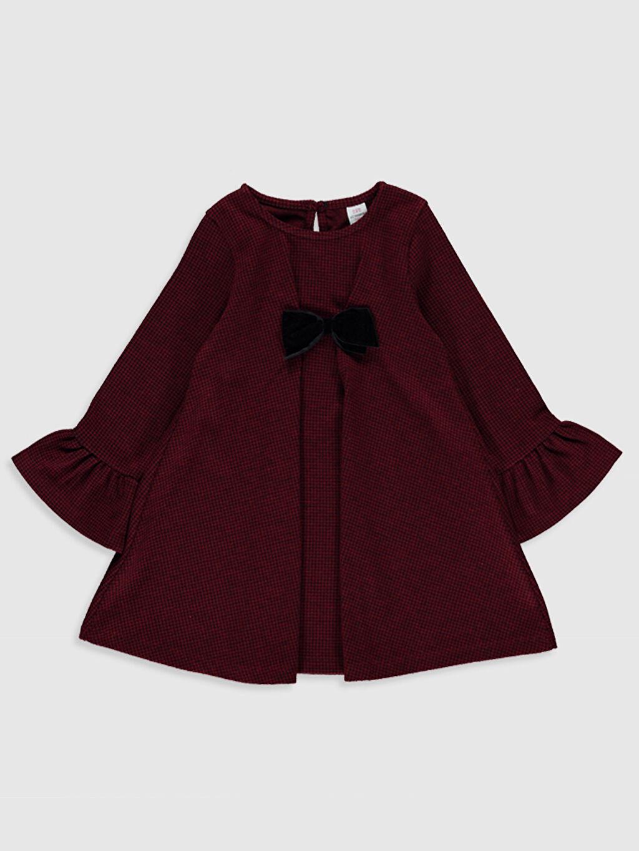 Siyah Kız Bebek Ekose Elbise 9WY128Z1 LC Waikiki