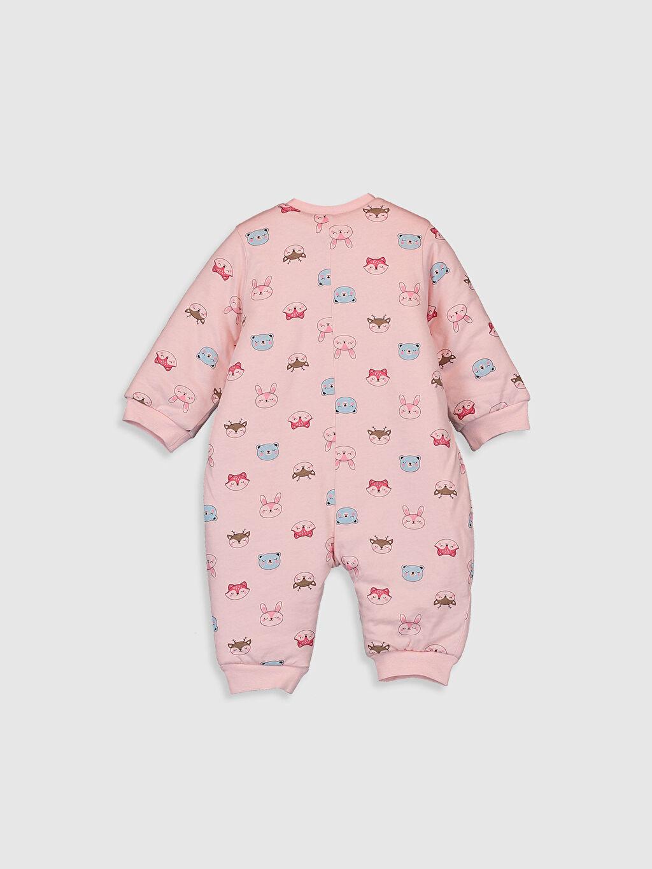 %100 Pamuk %100 Pamuk Standart Tulum Kız Bebek Baskılı Uyku Tulumu