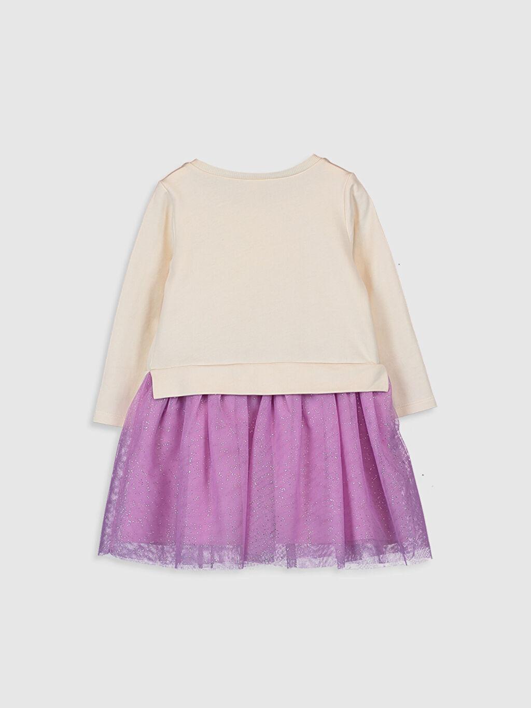 %100 Pamuk %100 Pamuk Desenli Kız Bebek Niloya Desenli Elbise