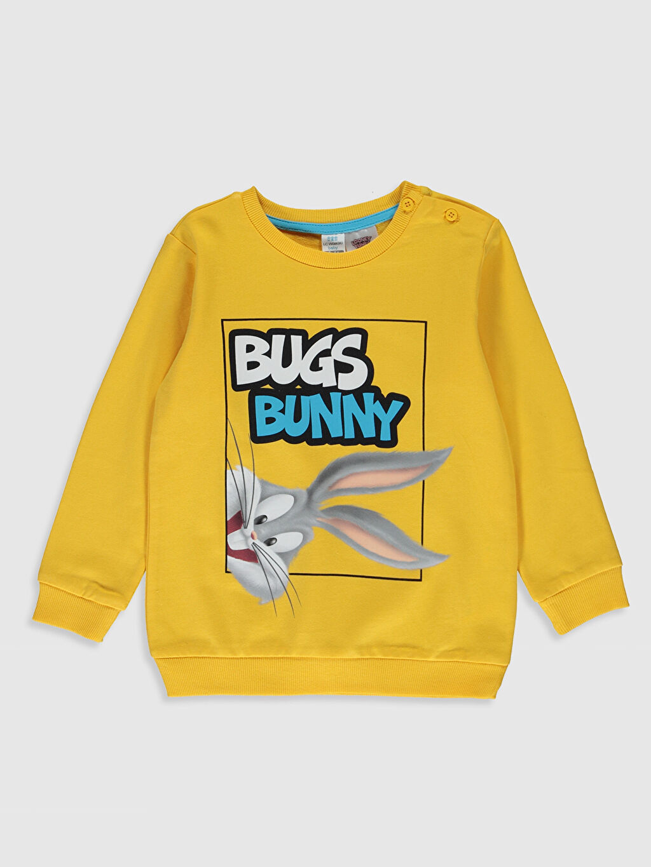 Sarı Erkek Bebek Bugs Bunny Baskılı Sweatshirt 9WY378Z1 LC Waikiki